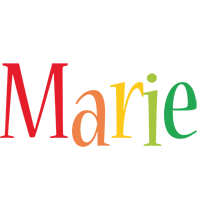 Marie birthday logo