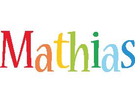 Mathias birthday logo