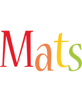 Mats birthday logo
