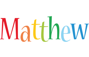 Matthew birthday logo