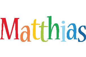 Matthias birthday logo