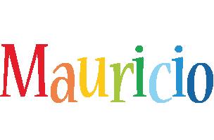 Mauricio birthday logo