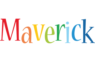 Maverick birthday logo