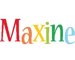 Maxine birthday logo
