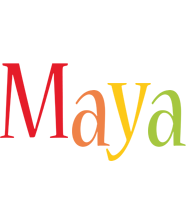 Maya birthday logo
