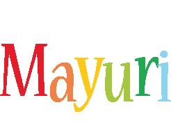 Mayuri birthday logo