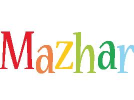 Mazhar birthday logo