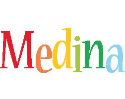 Medina birthday logo