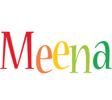 Meena birthday logo