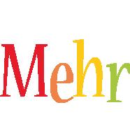Mehr birthday logo
