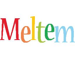 Meltem birthday logo