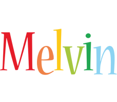 Melvin birthday logo