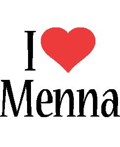 Menna Logo | Name Logo Generator - Kiddo, I Love, Colors Style