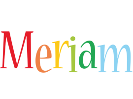 Meriam birthday logo
