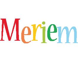 Meriem birthday logo