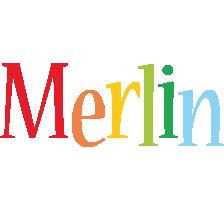 Merlin birthday logo