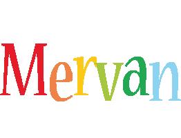 Mervan birthday logo