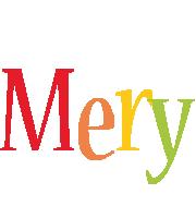 Mery birthday logo