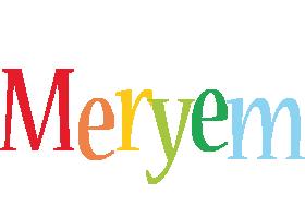 Meryem birthday logo