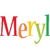 Meryl birthday logo