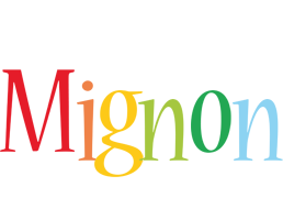 Mignon birthday logo