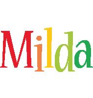 Milda birthday logo