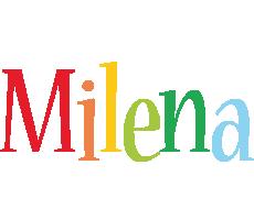 Milena birthday logo