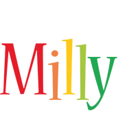 Milly birthday logo