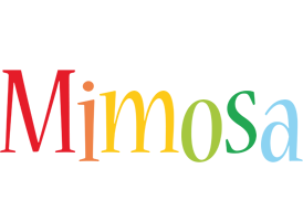 Mimosa birthday logo