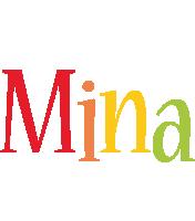 Mina birthday logo