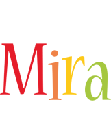 Mira birthday logo