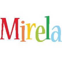 Mirela birthday logo