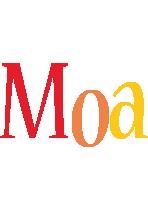 Moa birthday logo