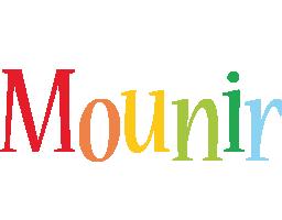 Mounir birthday logo