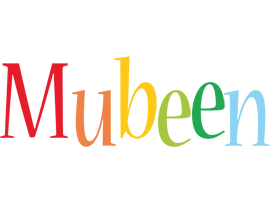 Mubeen birthday logo