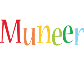 Muneer birthday logo