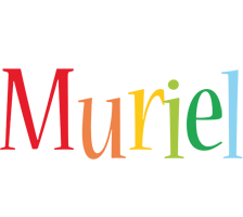 Muriel birthday logo