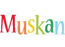 Muskan birthday logo