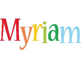 Myriam birthday logo