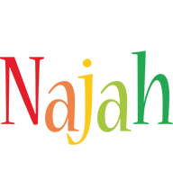 Najah birthday logo