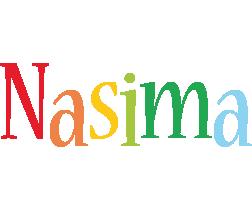 Nasima birthday logo