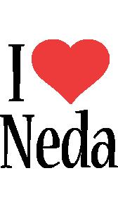 Neda Logo | Name Logo Generator - I Love, Love Heart