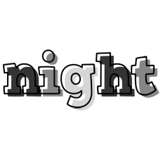 NIGHT logo effect. Colorful text effects in various flavors. Customize your own text here: http://www.textGiraffe.com/logos/night/