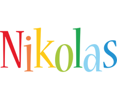 Nikolas birthday logo
