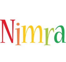 Nimra birthday logo