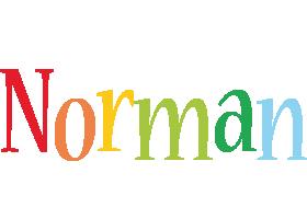 Norman birthday logo