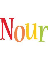 Nour birthday logo
