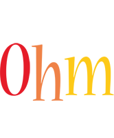 Ohm birthday logo