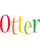 Otter birthday logo