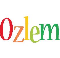 Ozlem birthday logo